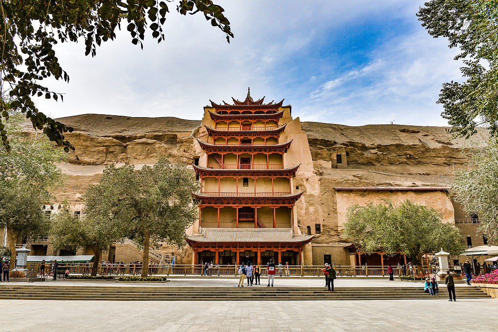 Only road leading to Mogao Grottoes damaged by floods