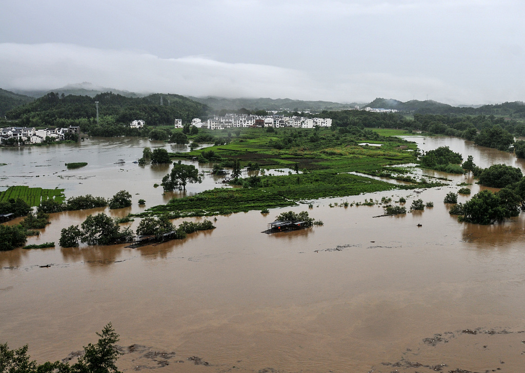 228,000 people in east China province affected by rainstorms