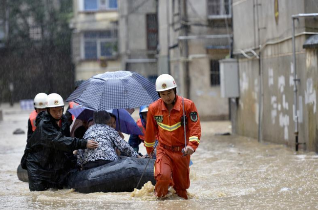 Intensive rainfall hits China's Fujian
