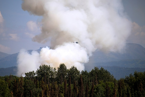 Evacuation of residents ordered as wildfire rages in Alaska