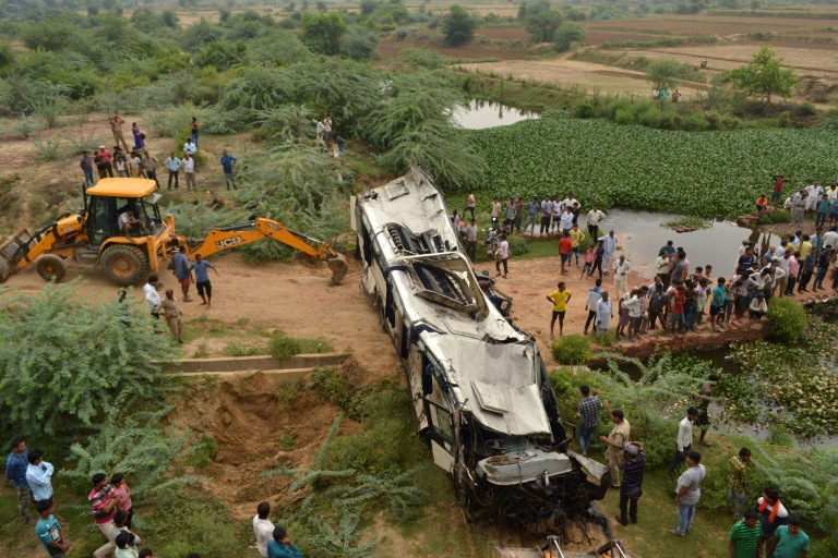 29 die as bus plunges off India's 'highway to hell'