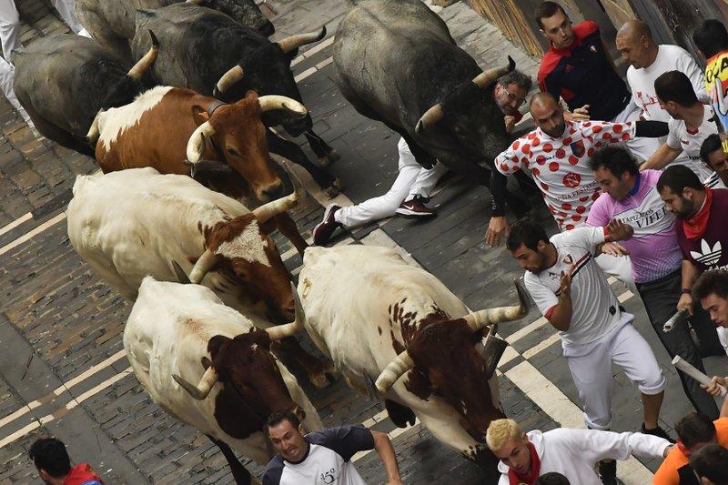 2 injured in speediest Pamplona bull run so far this year