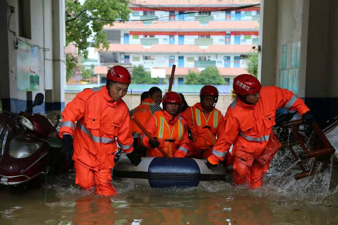 Rescue work carried out in flood-hit Yichun City