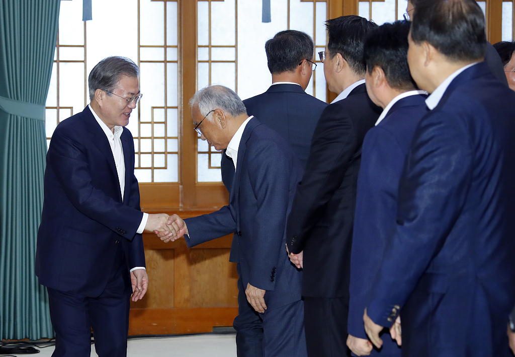 S.Korean president meets with business leaders to tackle Japan's export curbs