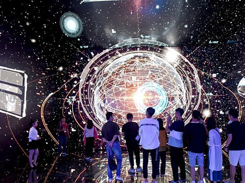 Students from Taiwan visit Huainan Big Data Exhibition Center in Anhui