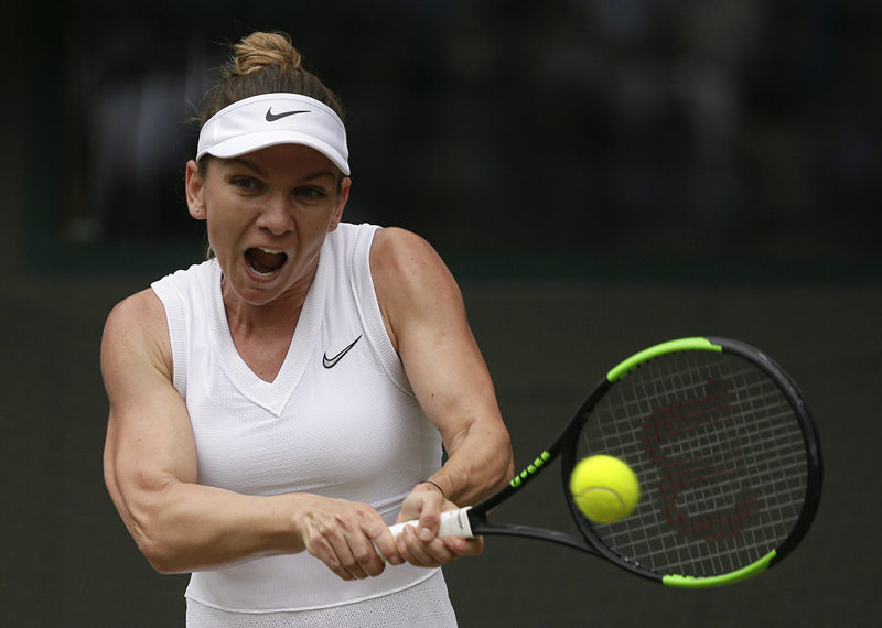 Serena battles through at Wimbledon, Halep storms back to reach semi-finals
