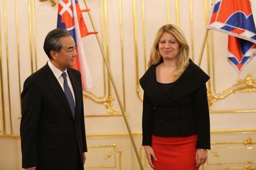 Slovak president, Chinese FM meet on ties, cooperation