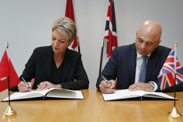 Switzerland signs post-Brexit security cooperation deal with UK