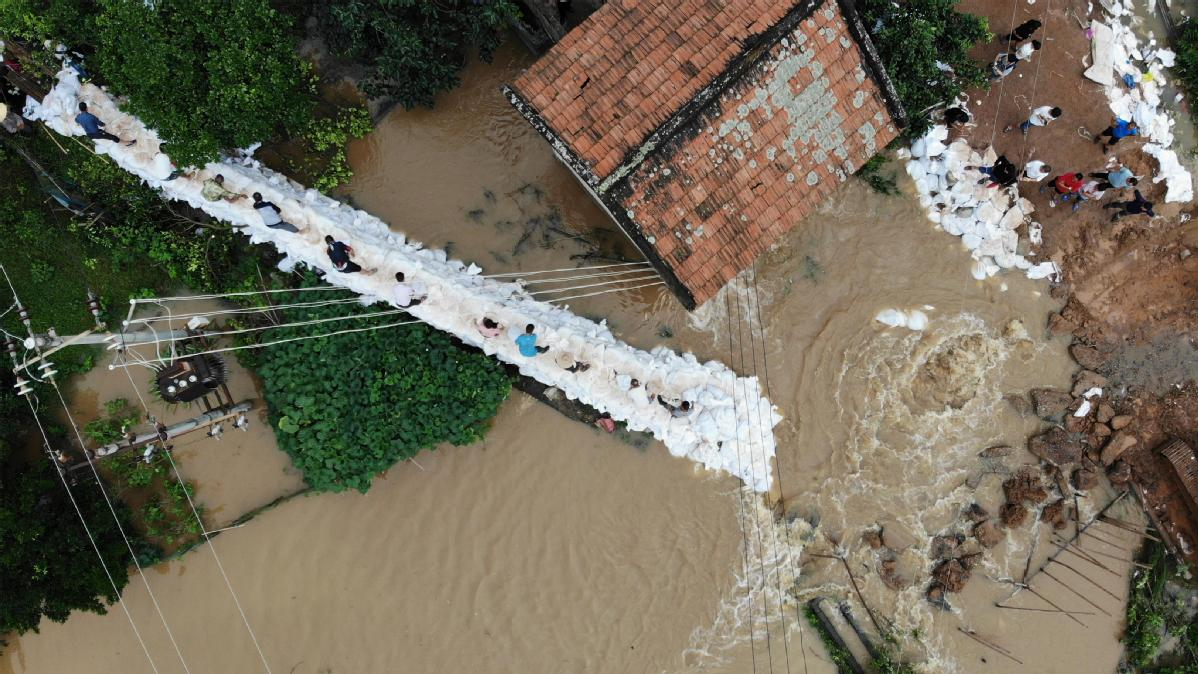 77,000 relocated after heavy rains soak south